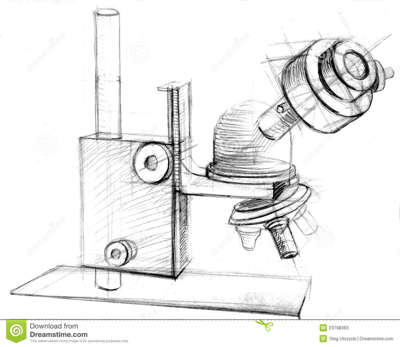 Microscope Hand Drawn Stock Photos