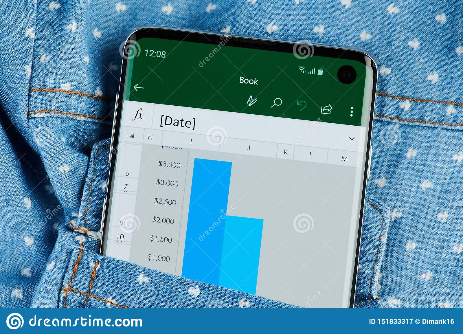 Microsoft Excel Application On Smartphone Editorial