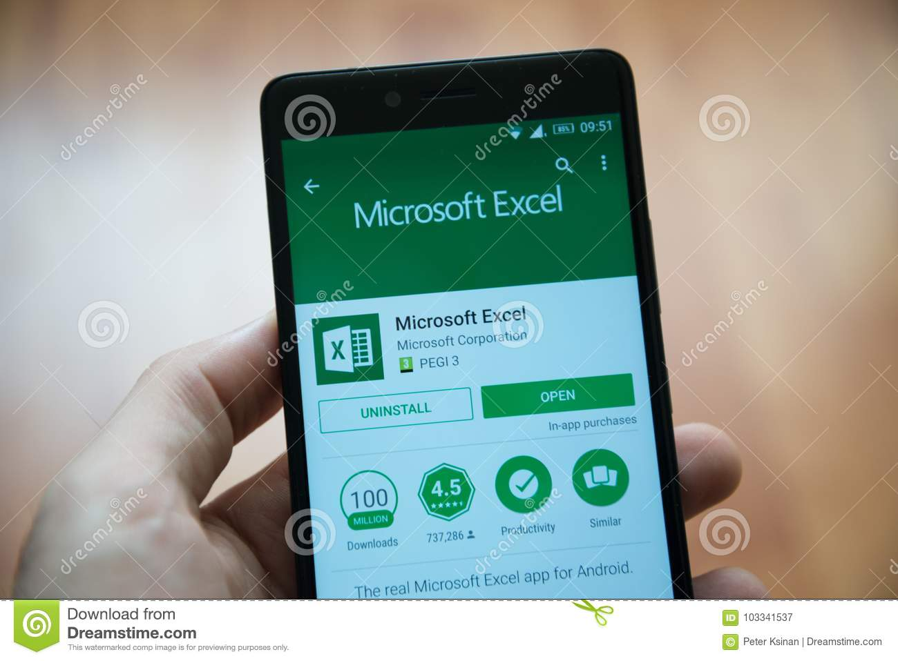 Microsoft Office Excel Application In Play Store