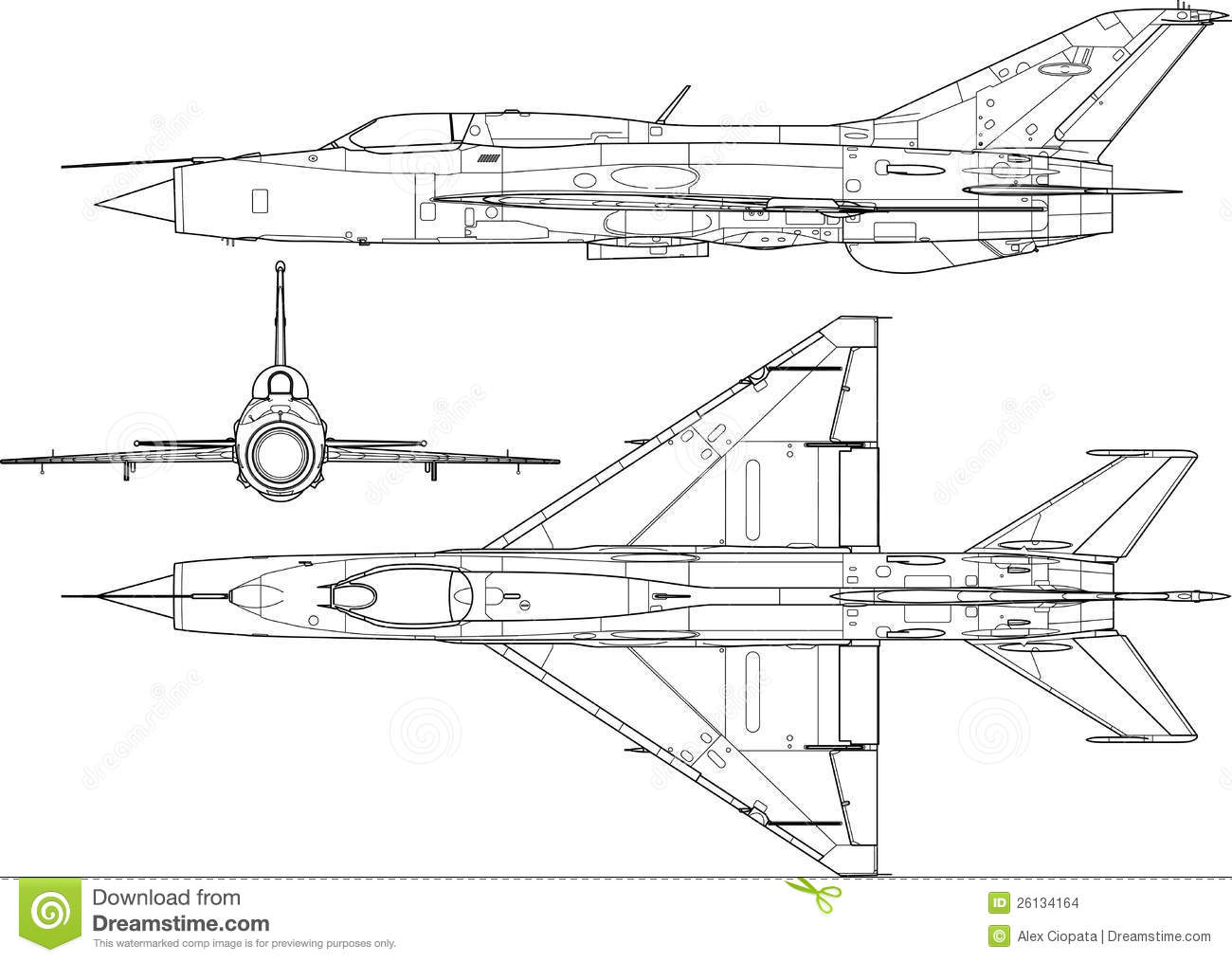 Mig 21 Stock Vector Illustration Of Plane Aircraft