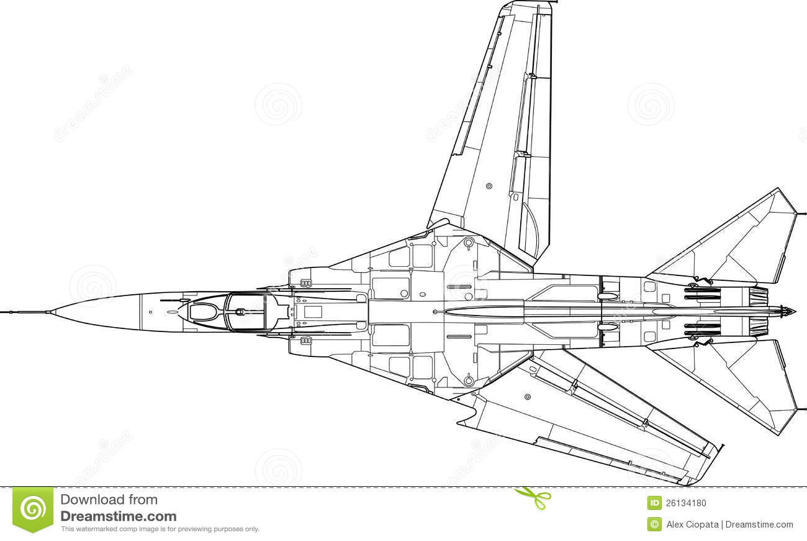Mig 23 Mf Stock Vector Illustration Of Military Plane