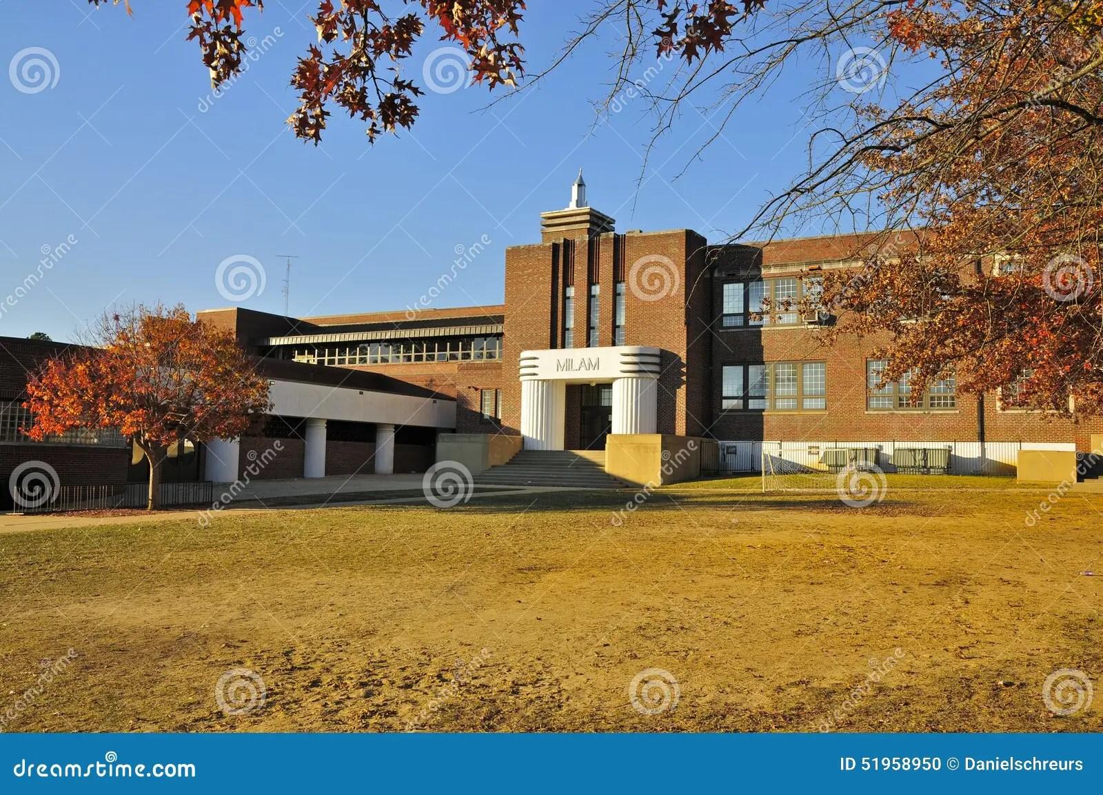 Milam Junior High Tupelo Editorial Image Image Of