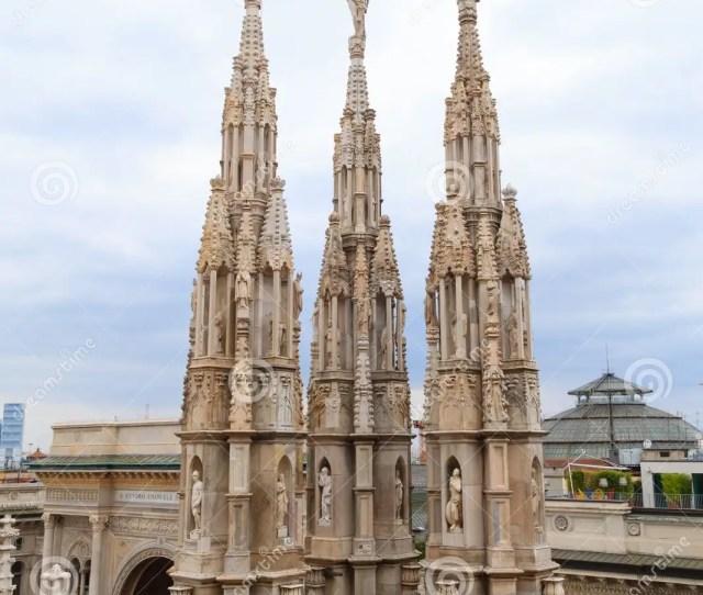 Milan Cathedral Duomo Di Milano View Famous Italian Landmark Gothic Architecture