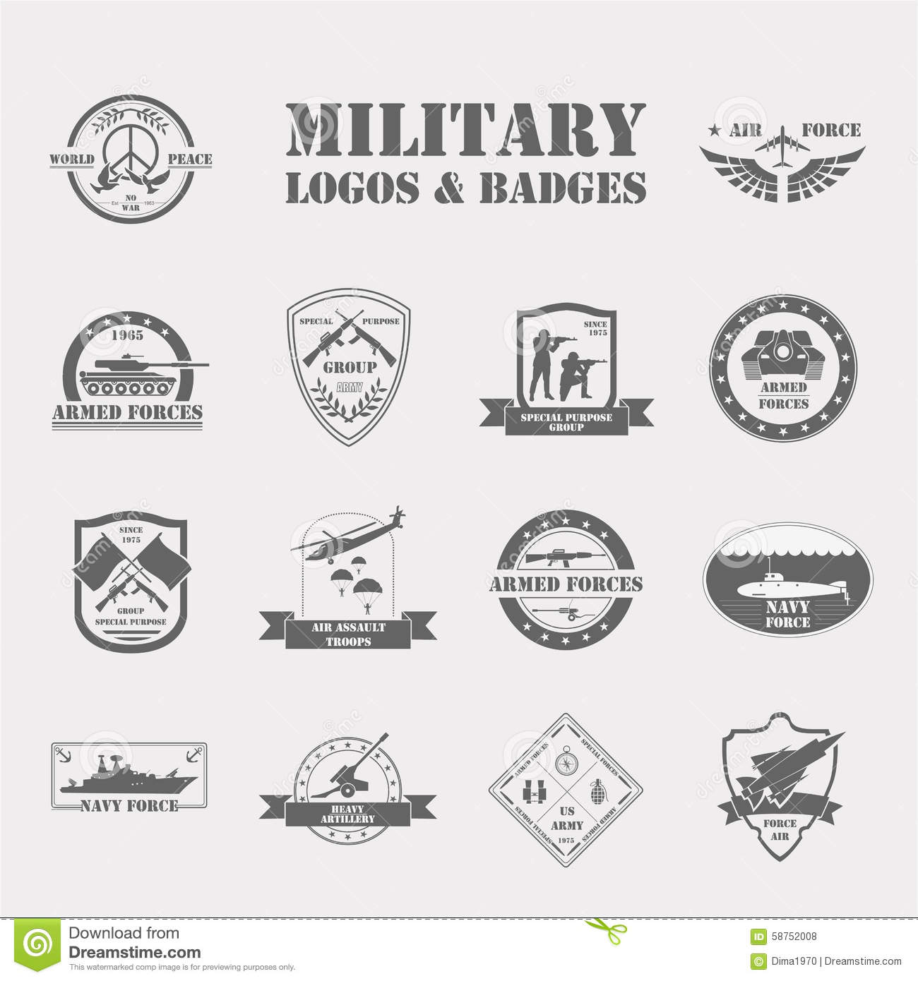 Military And Armored Vehicles Logos And Badges Graphic