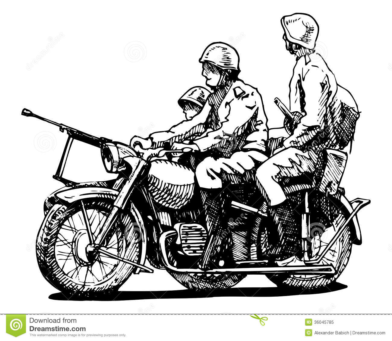 Military Motorcycles Royalty Free Stock Photo