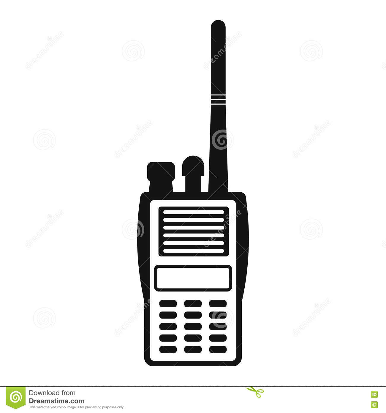 Military Radio Simple Icon Stock Vector Illustration Of