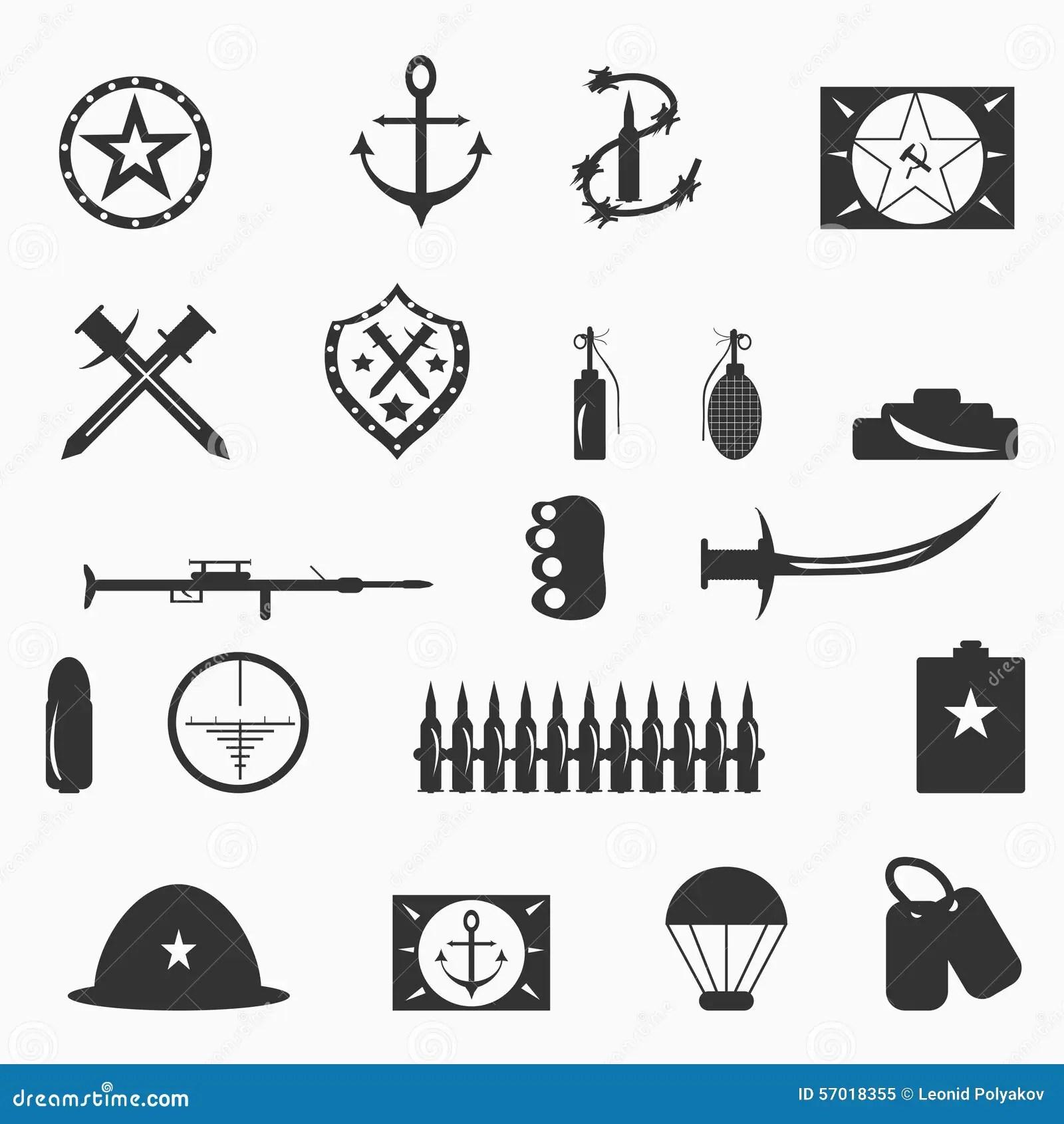 Military Symbols Vector Illustration Stock Vector
