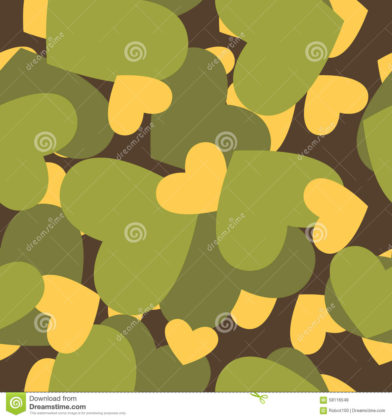 Military Texture For Love Camouflage Army Seamless