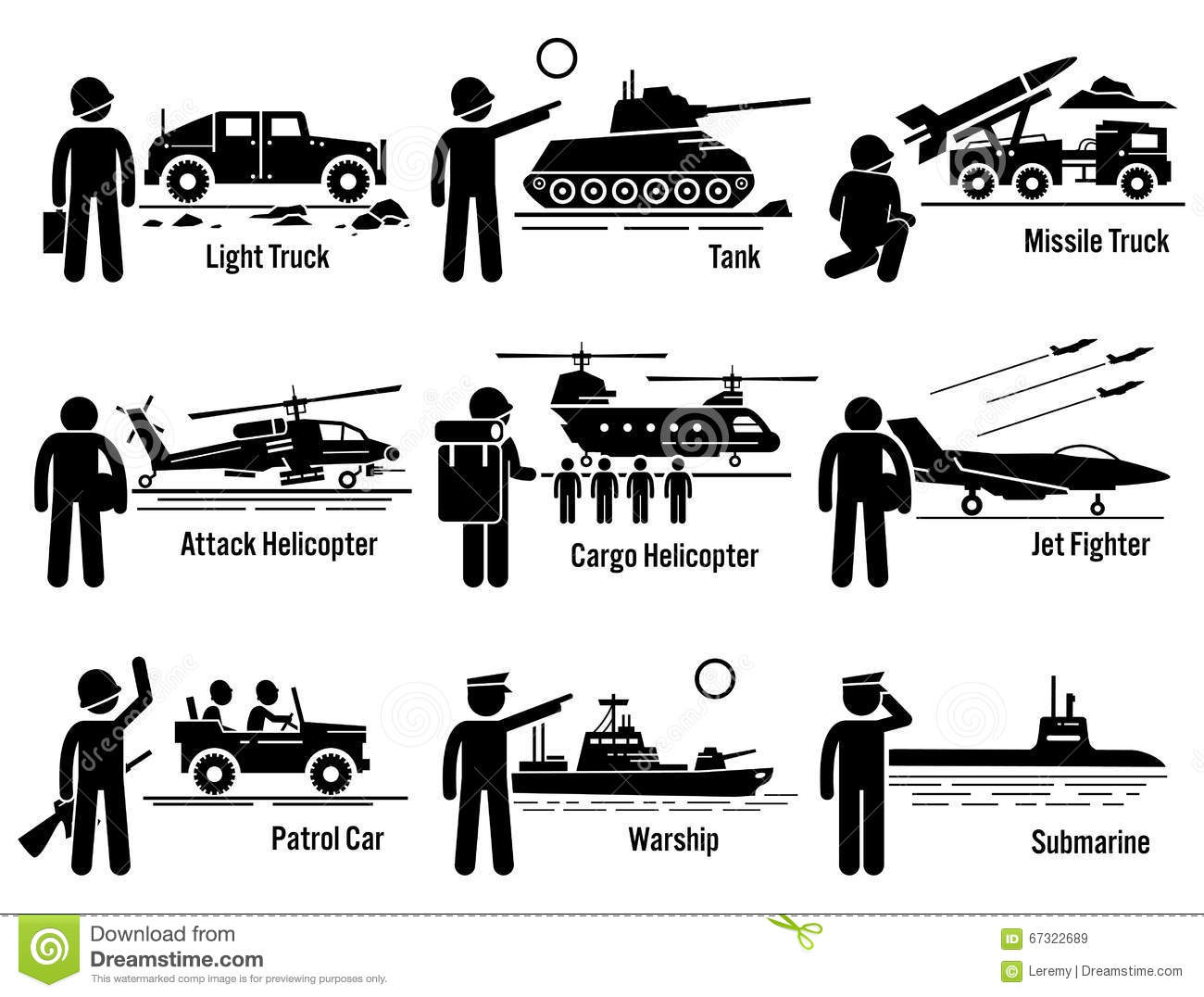 Military Vehicles Army Sol R Transportation Set Clipart