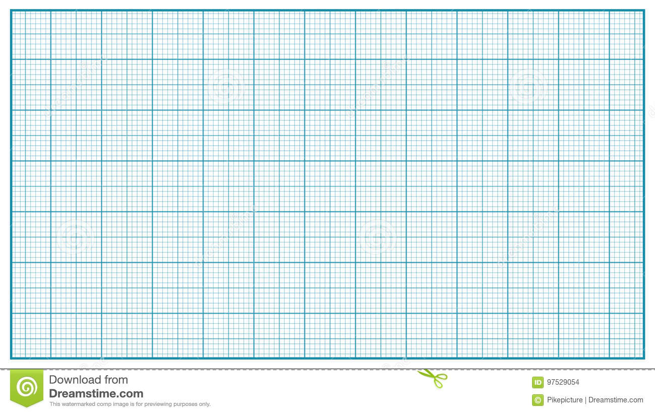 Millimeter Paper Vector Blue Graphing Paper For