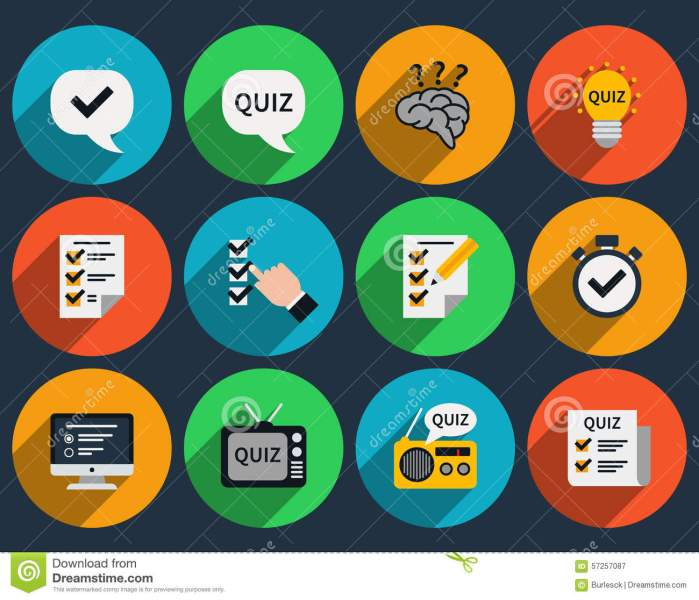 Mind Games And Quizzes Flat Icons Stock Vector   Illustration of     Download comp