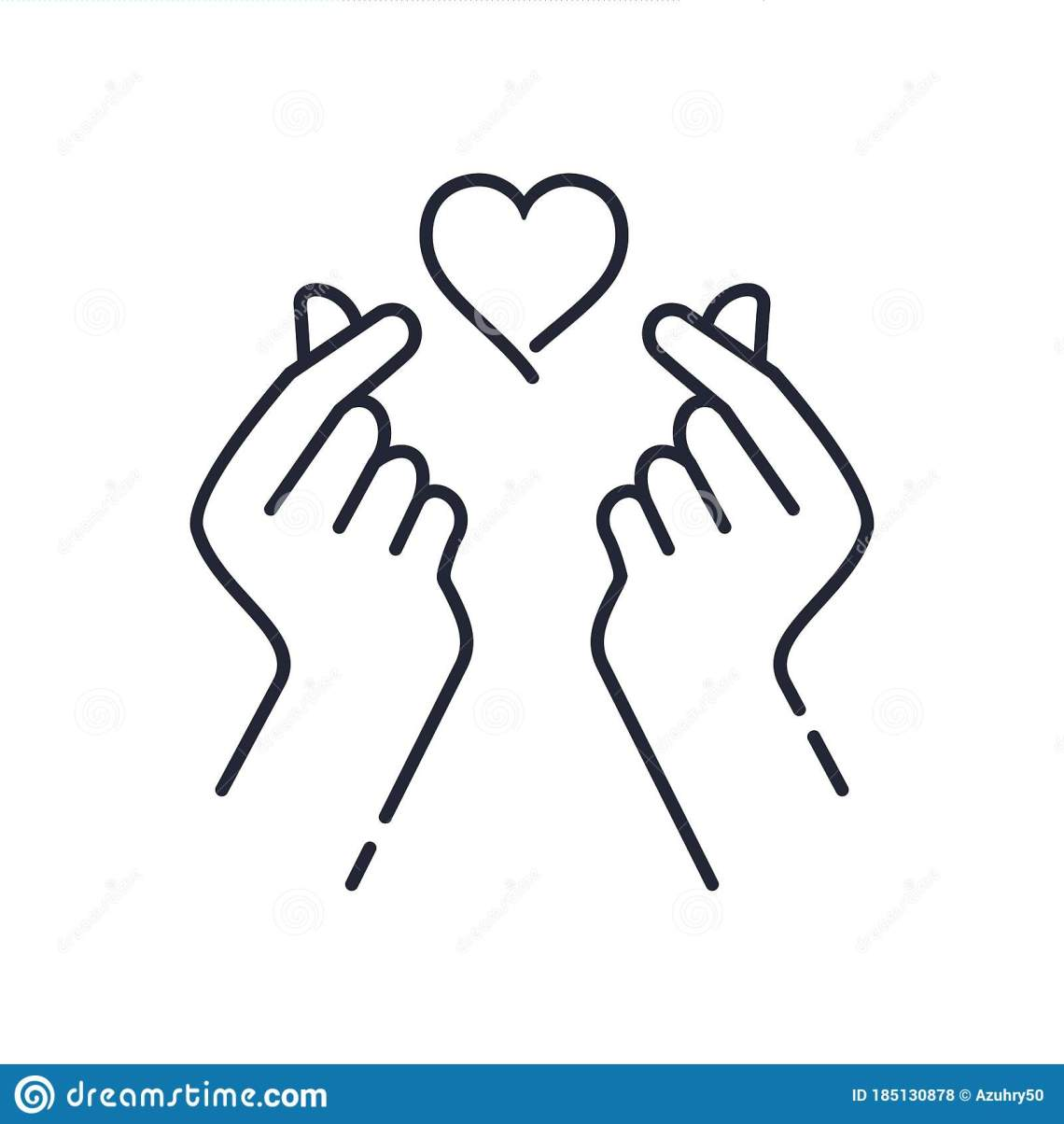 Download Mini I Love You Hand ,korean Heart Finger I Love You Sign ...