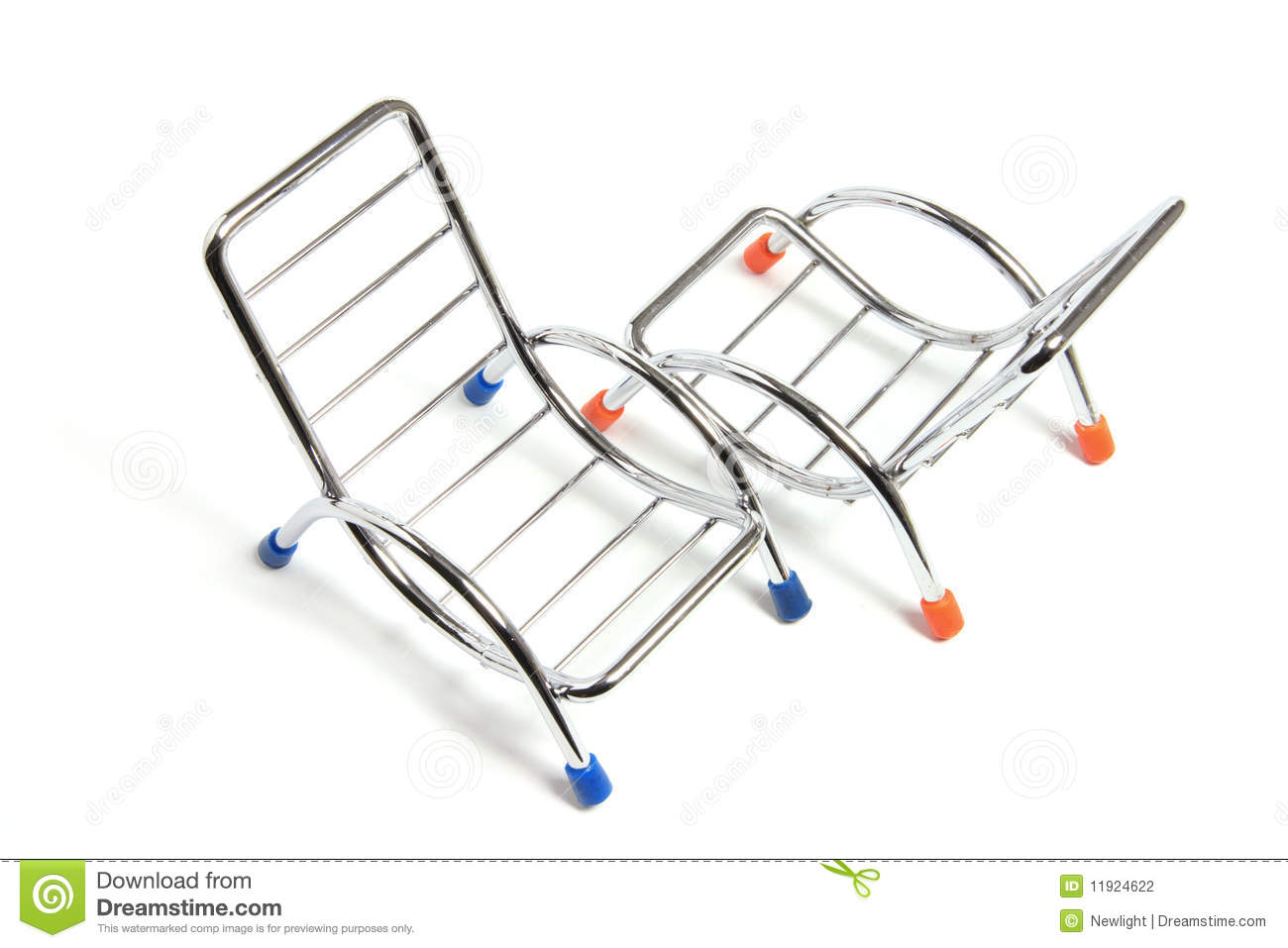 Miniature Reclining Chairs Stock Photography
