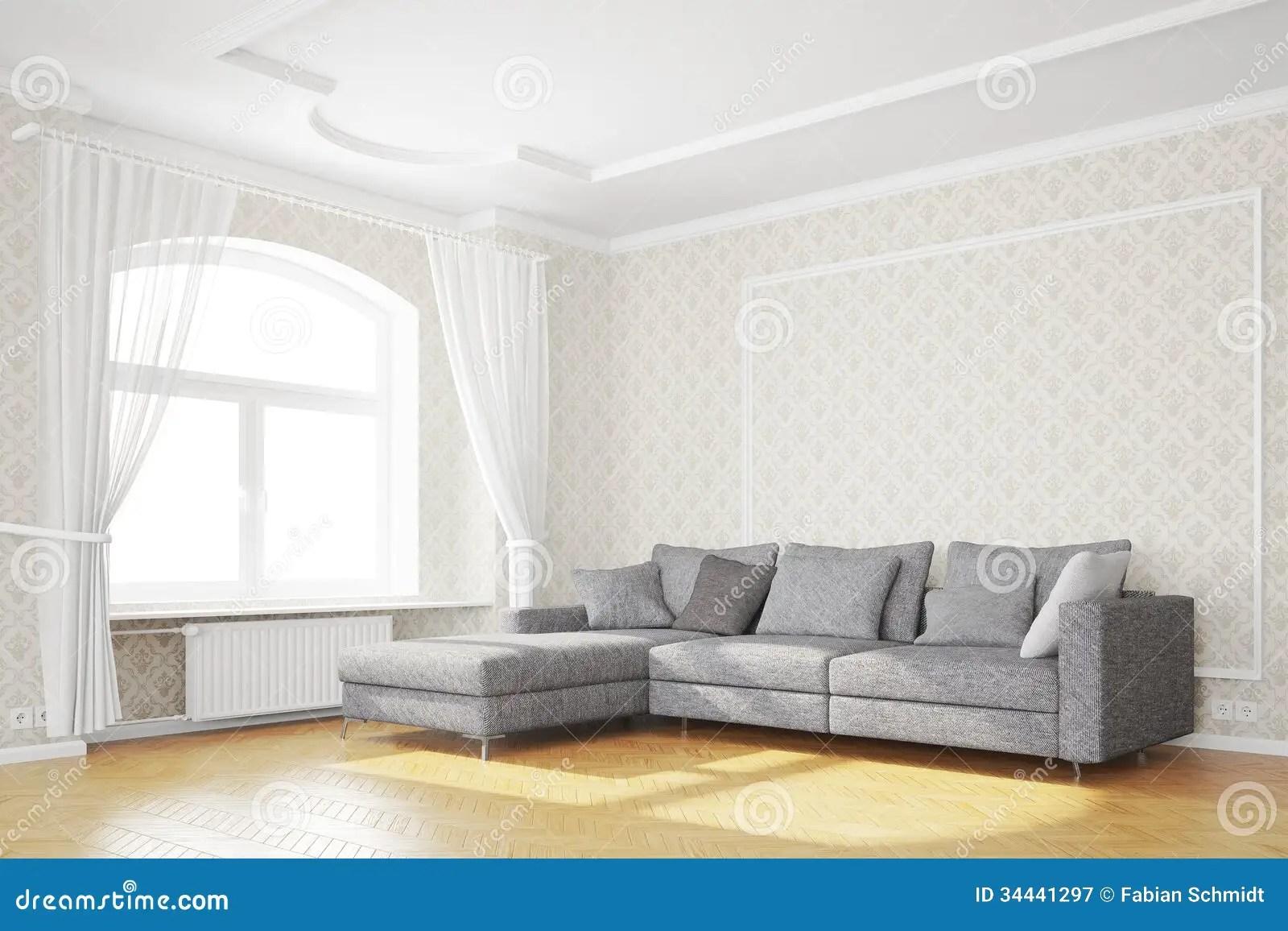 Minimal Living Room With Sofa Stock Illustration