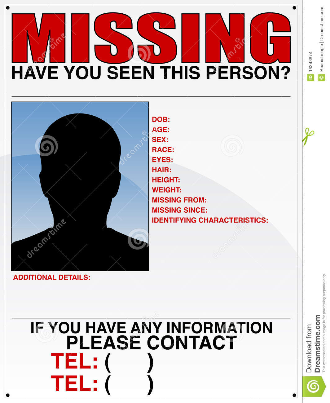 Doc14031984 Missing Persons Poster Template Missing Person