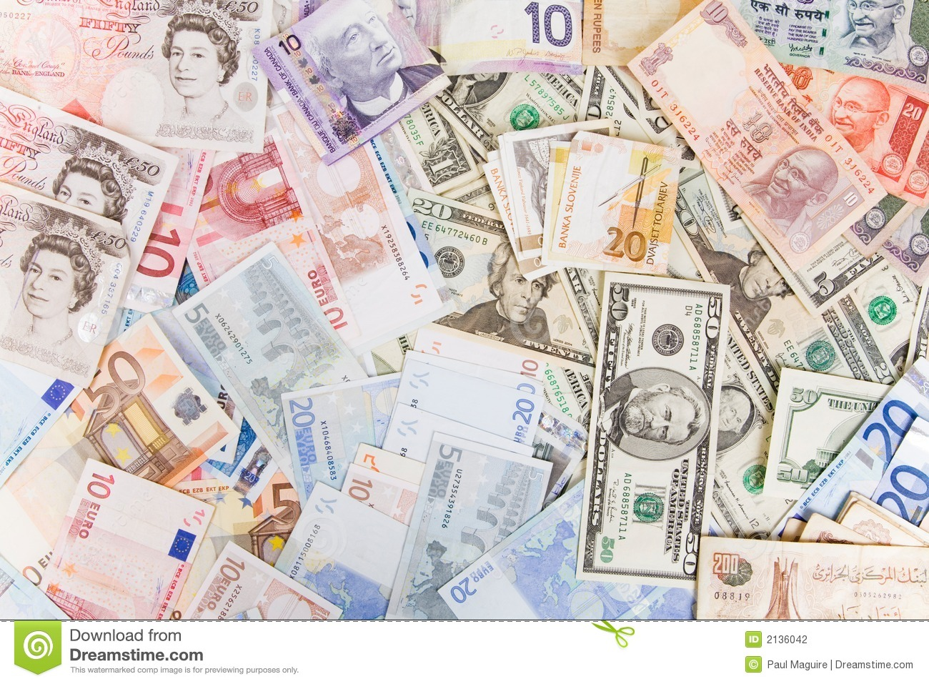 Mixed Currency Stock Photography Image 2136042
