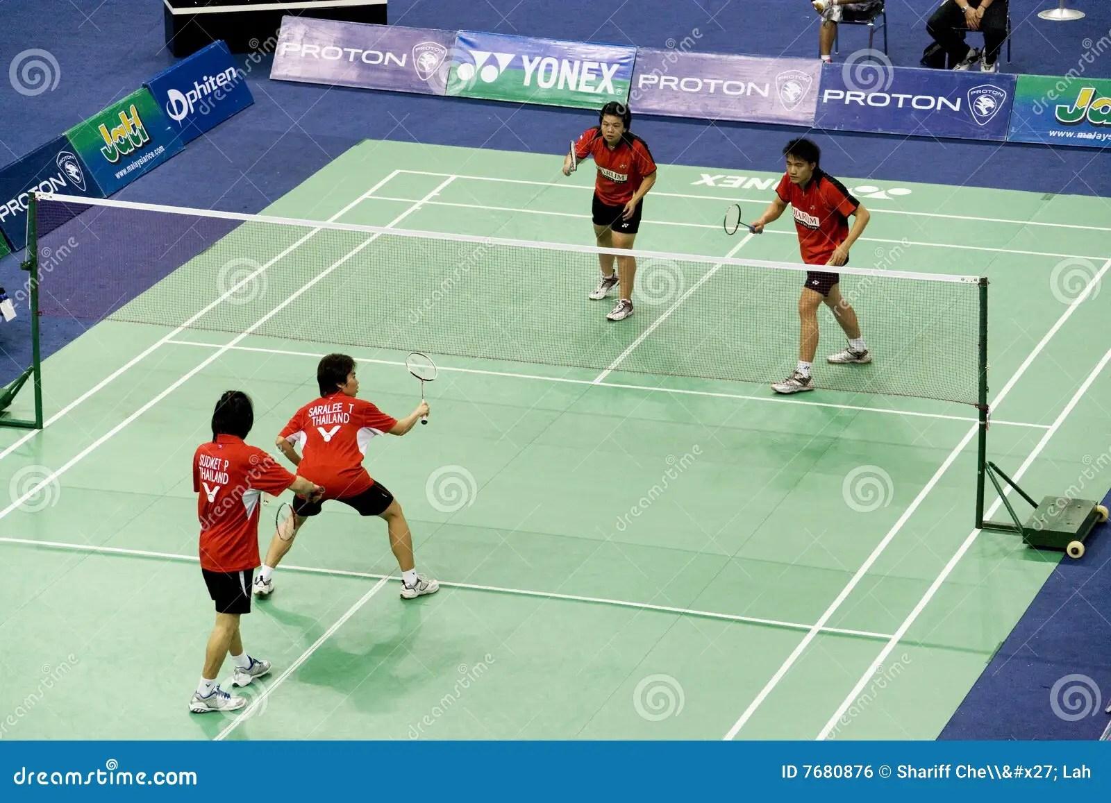 Mixed Doubles Badminton Editorial Photo Image 7680876