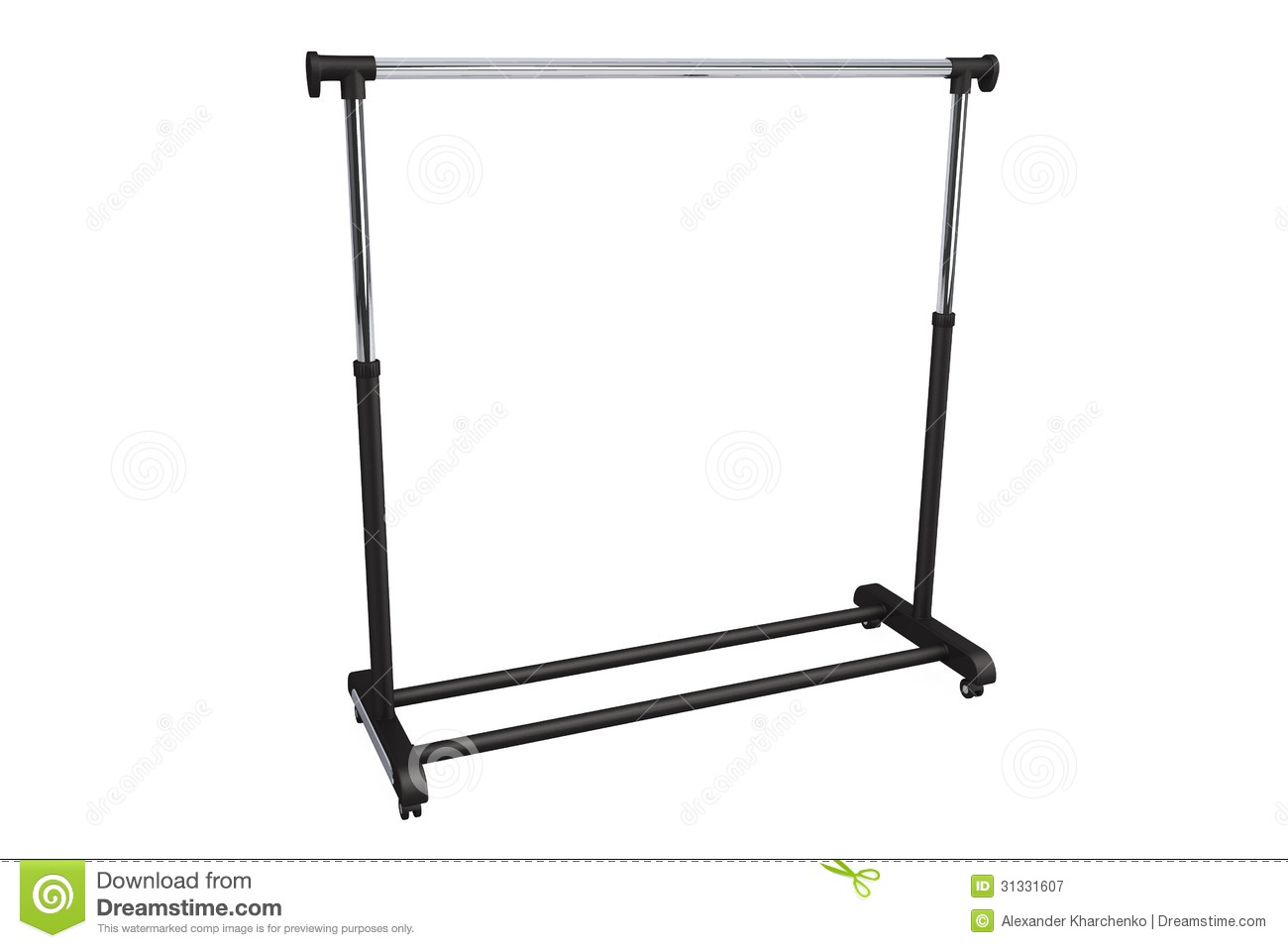 Mobile Black Coat Rack Royalty Free Stock Photography