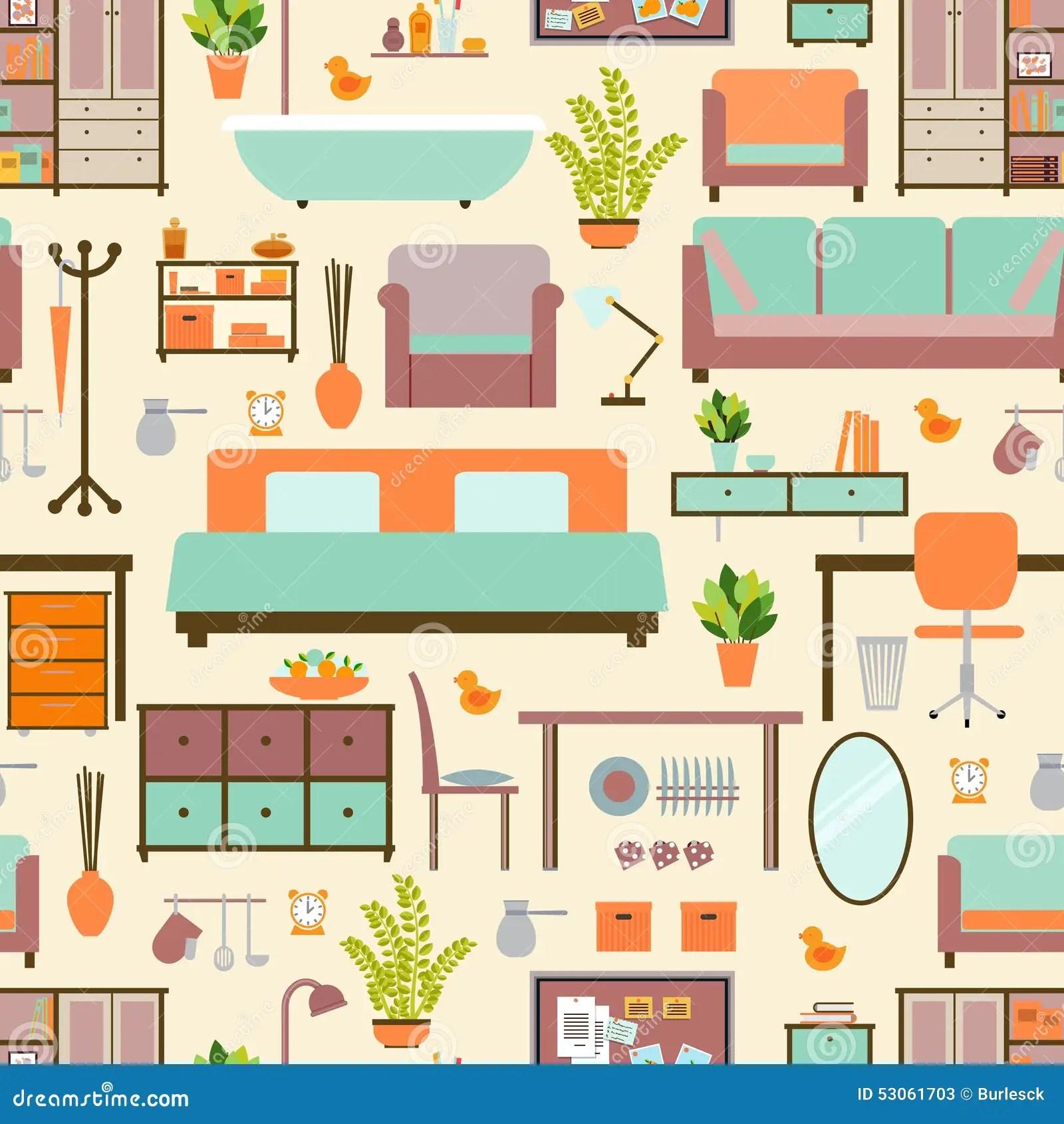 Modelo De Los Muebles De La Casa Ilustracion Del Vector