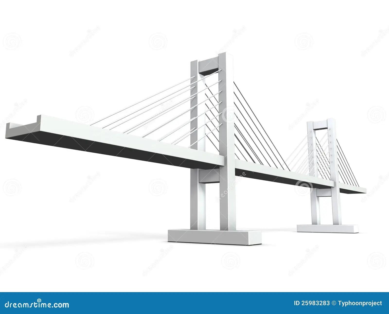 Modelos Arquitectonicos Del Puente Cable Permanecido Stock