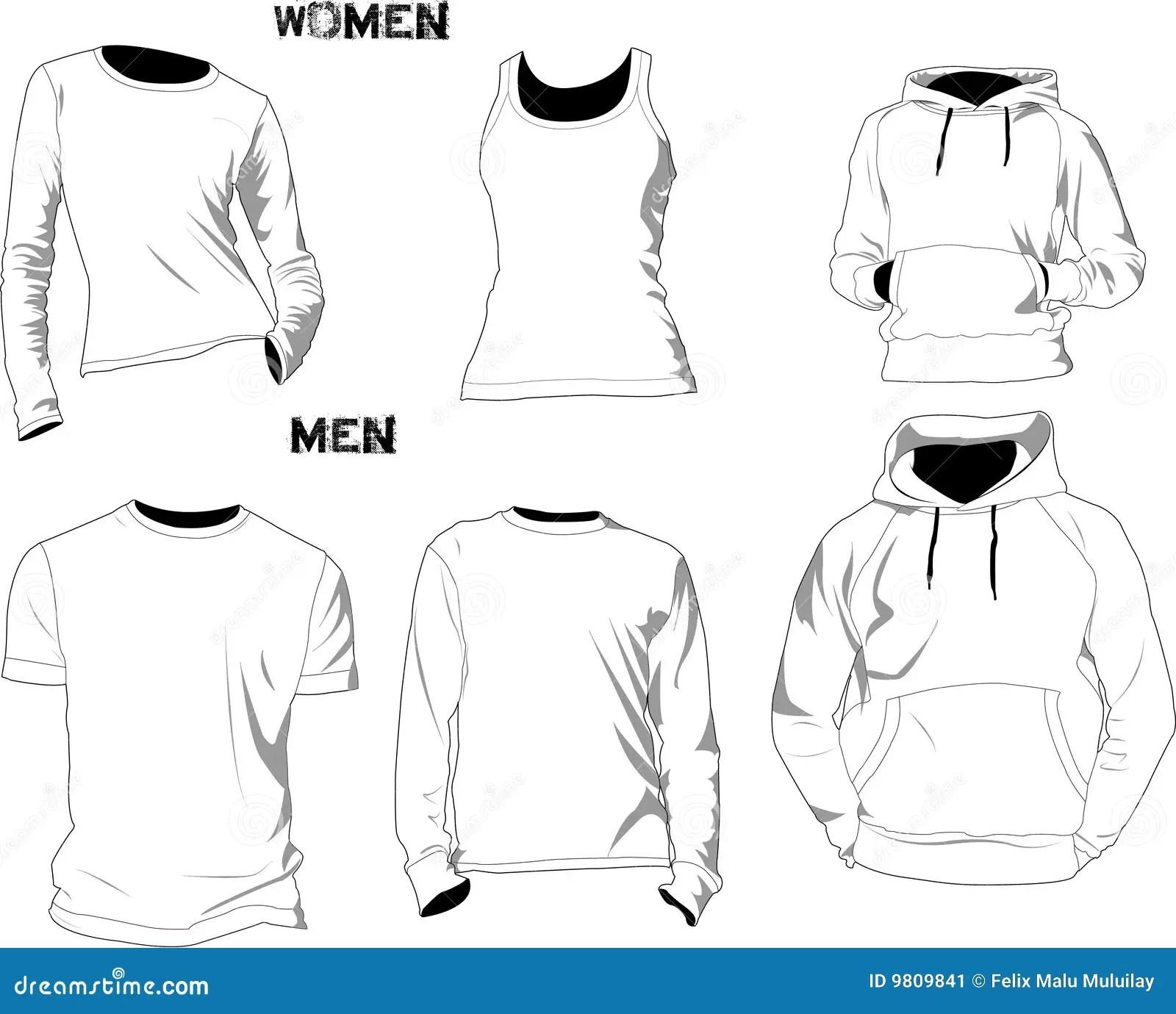 Modelos De La Camiseta Ilustracion Del Vector Ilustracion