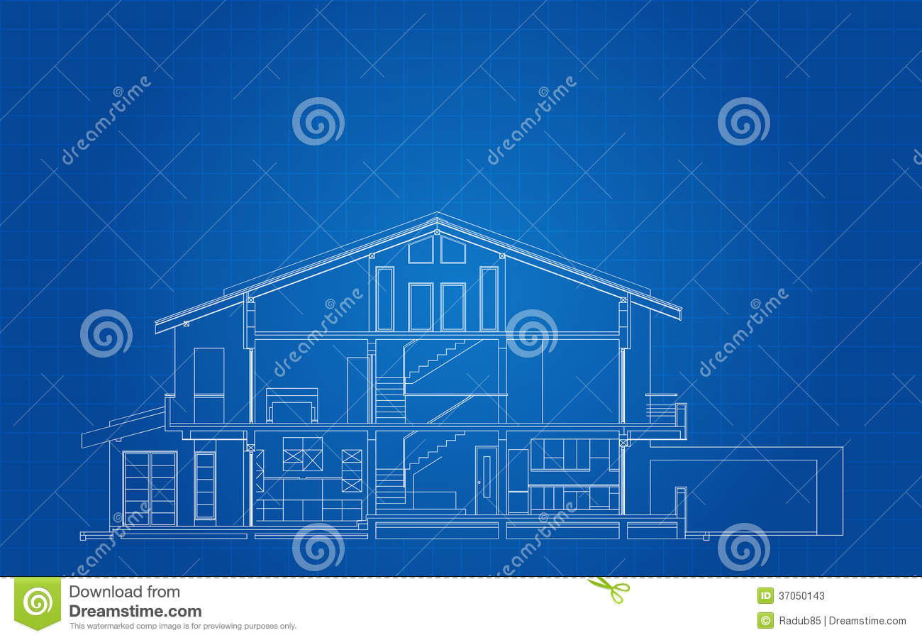 Modern American House Facade Section Stock Photos Image