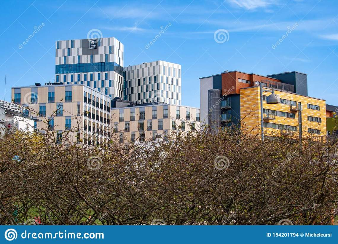 Modern Architecture With Apartment Buildings In Helsinki Finland Editorial Stock Image Image Of Capital Futurist 154201794