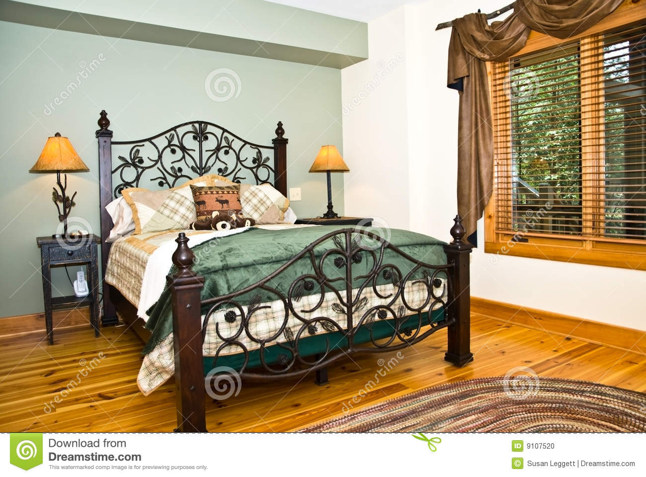 Modern BedroomRustic Decor Stock Photo Image 9107520