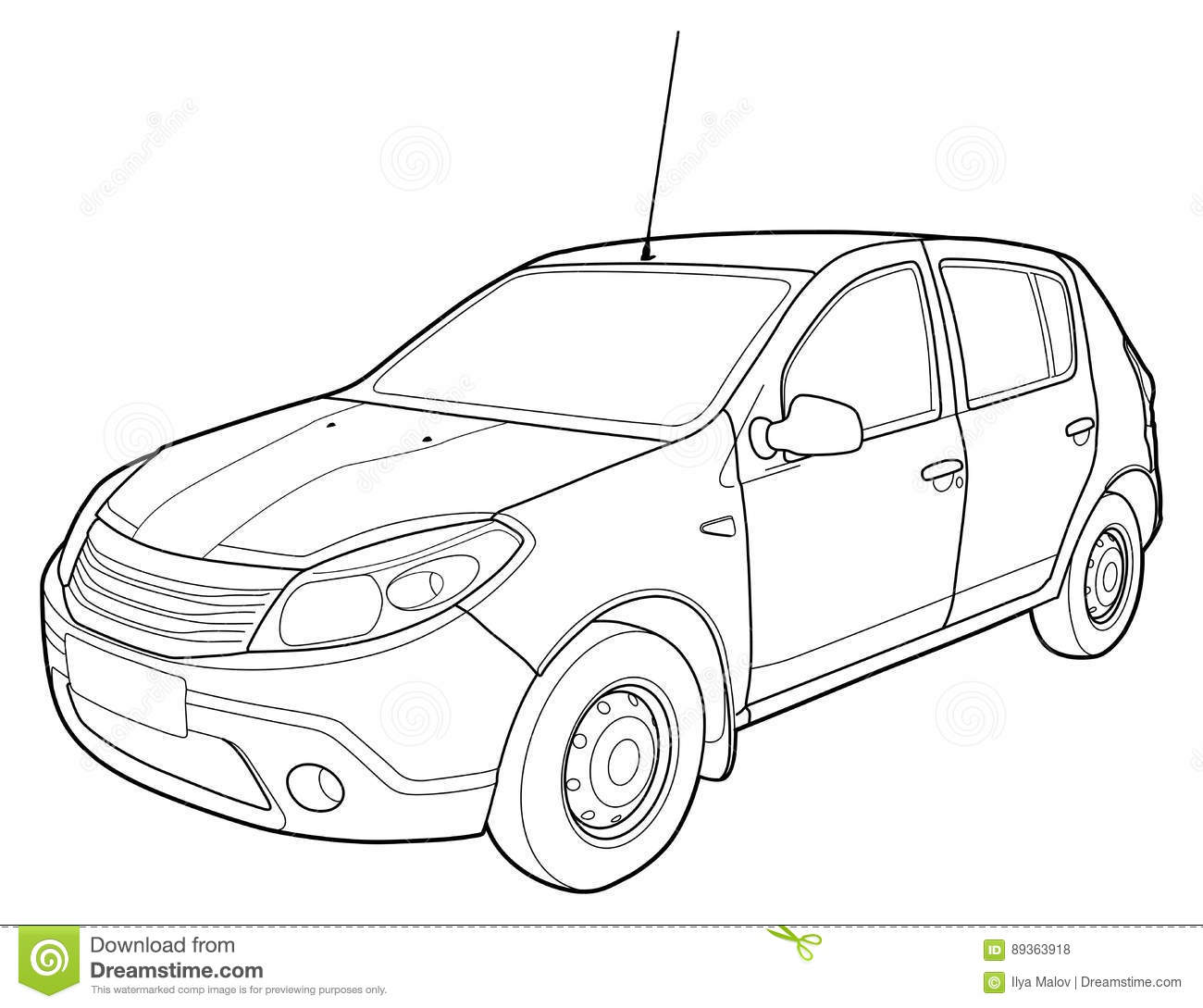 Modern Car Technical Draw Stock Vector Image Of Insignia