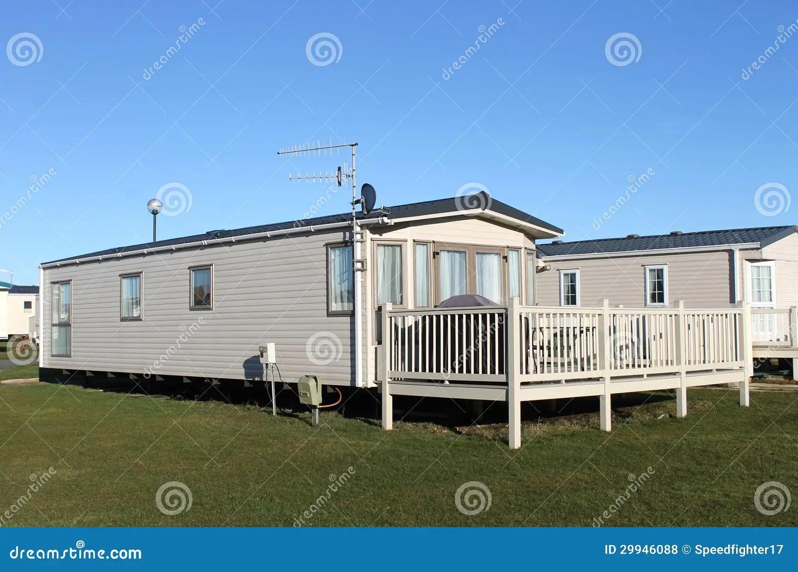 Modern Caravan Home In Trailer Park Royalty Free Stock