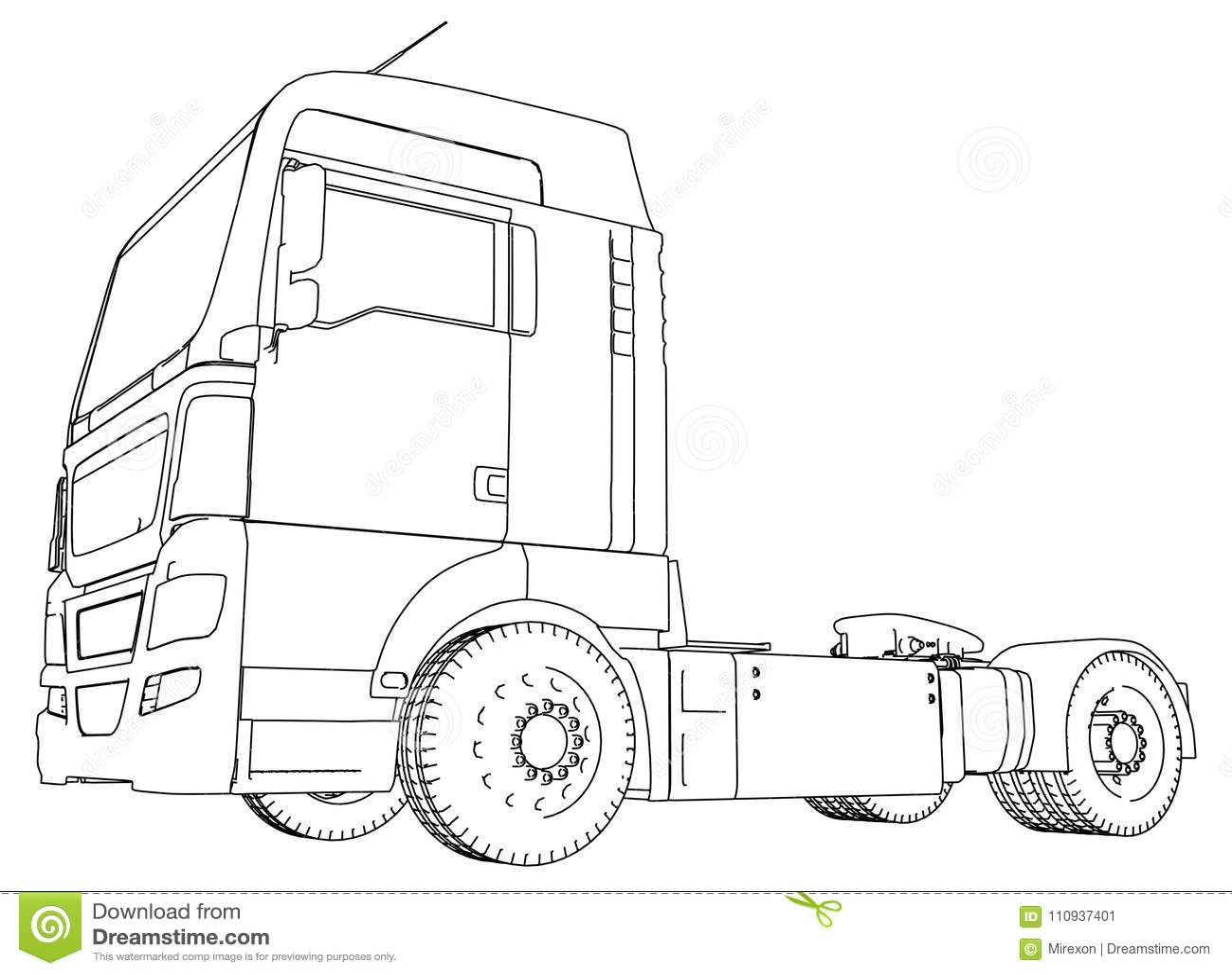 Modern Cargo Truck Isolated On Grey Background Eurotrucks