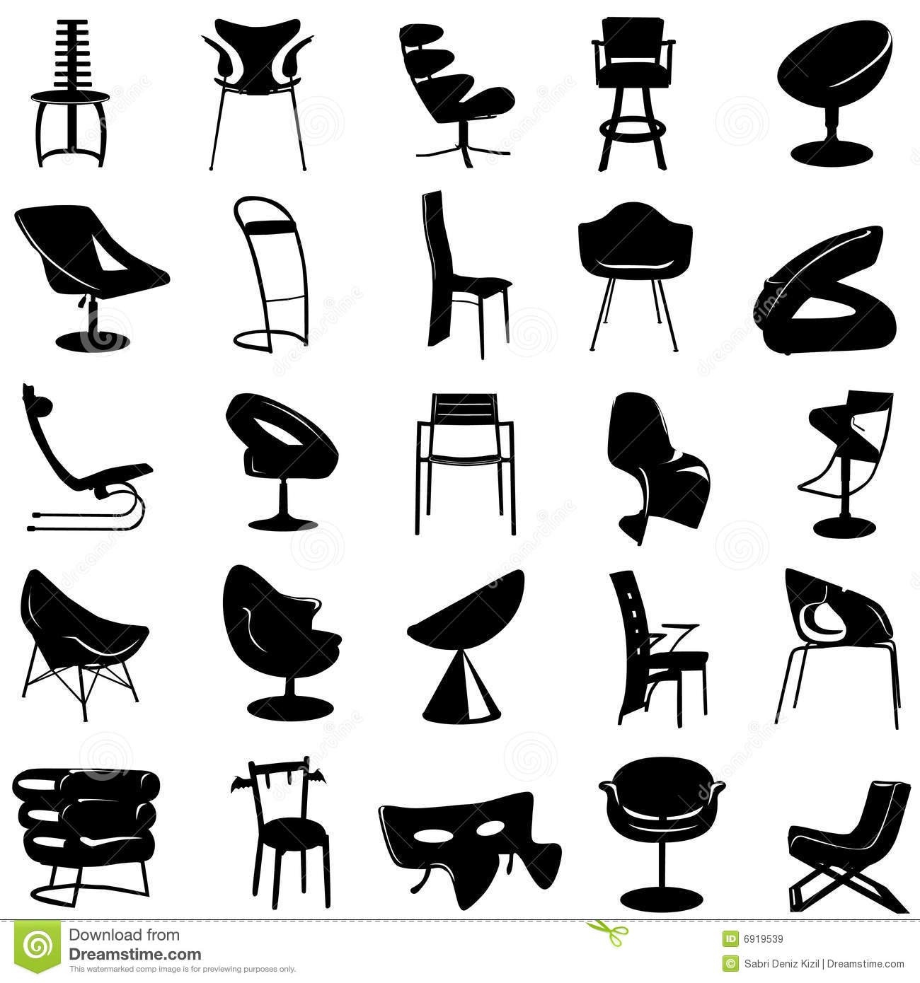Modern Chair Vector Stock Vector Illustration Of Colors