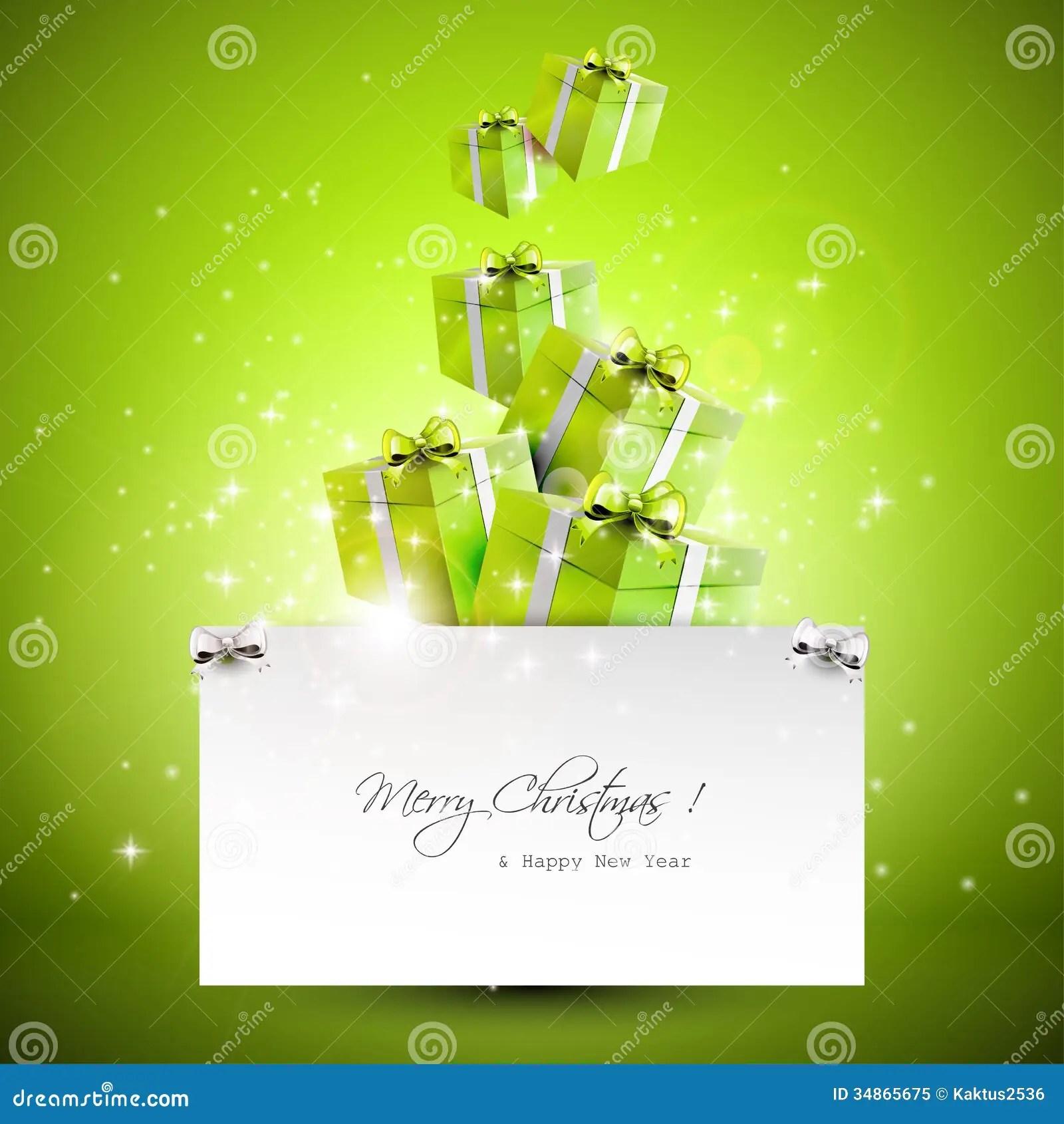 Modern Christmas Greeting Card Stock Vector Illustration