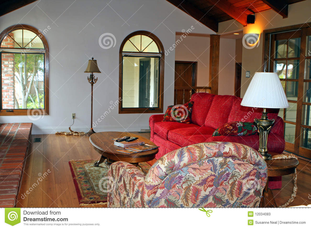 Modern Country Living Room Stock Image Image Of Laminate