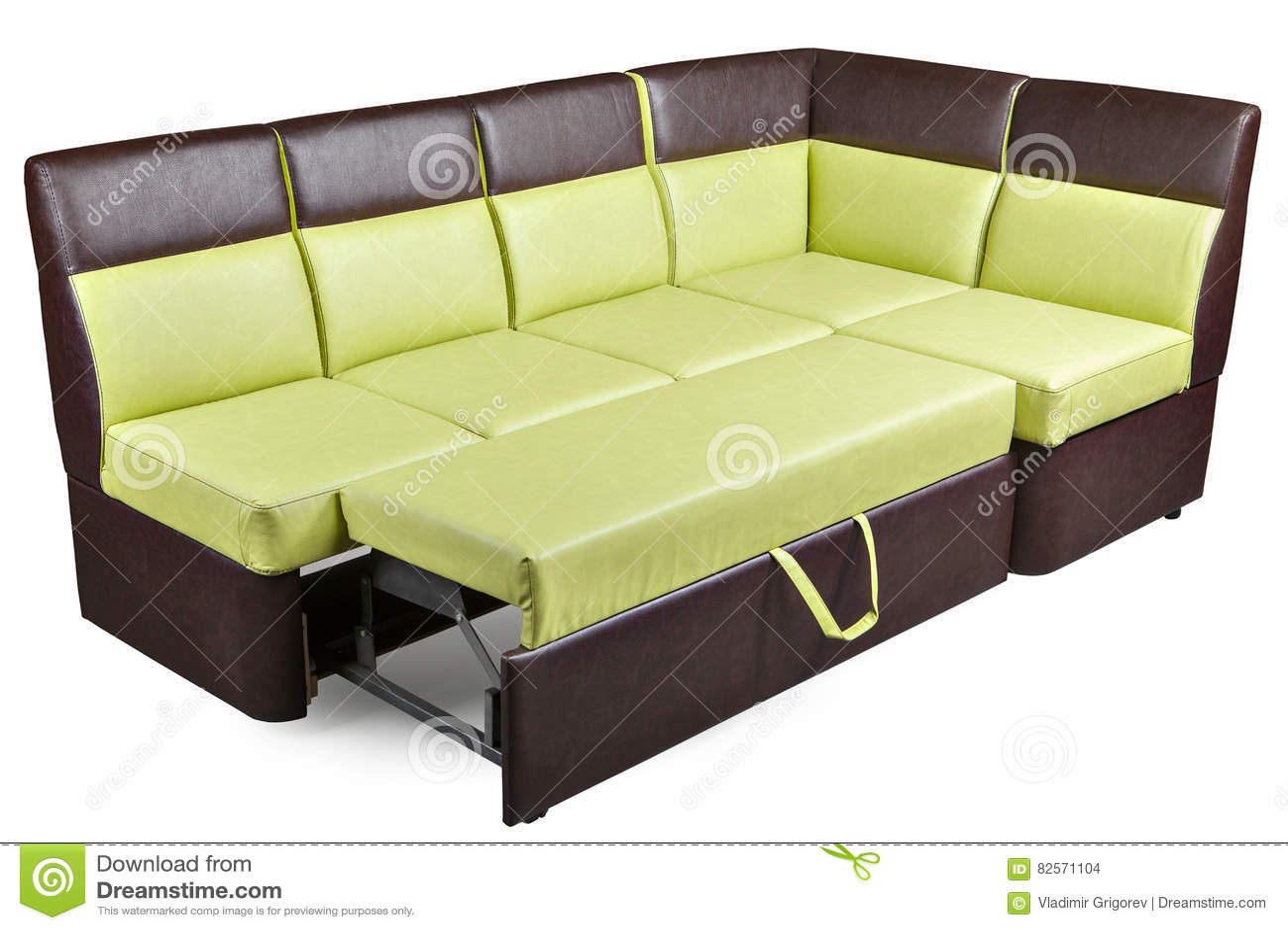 Shaped Sleeper L Sectional Sofa