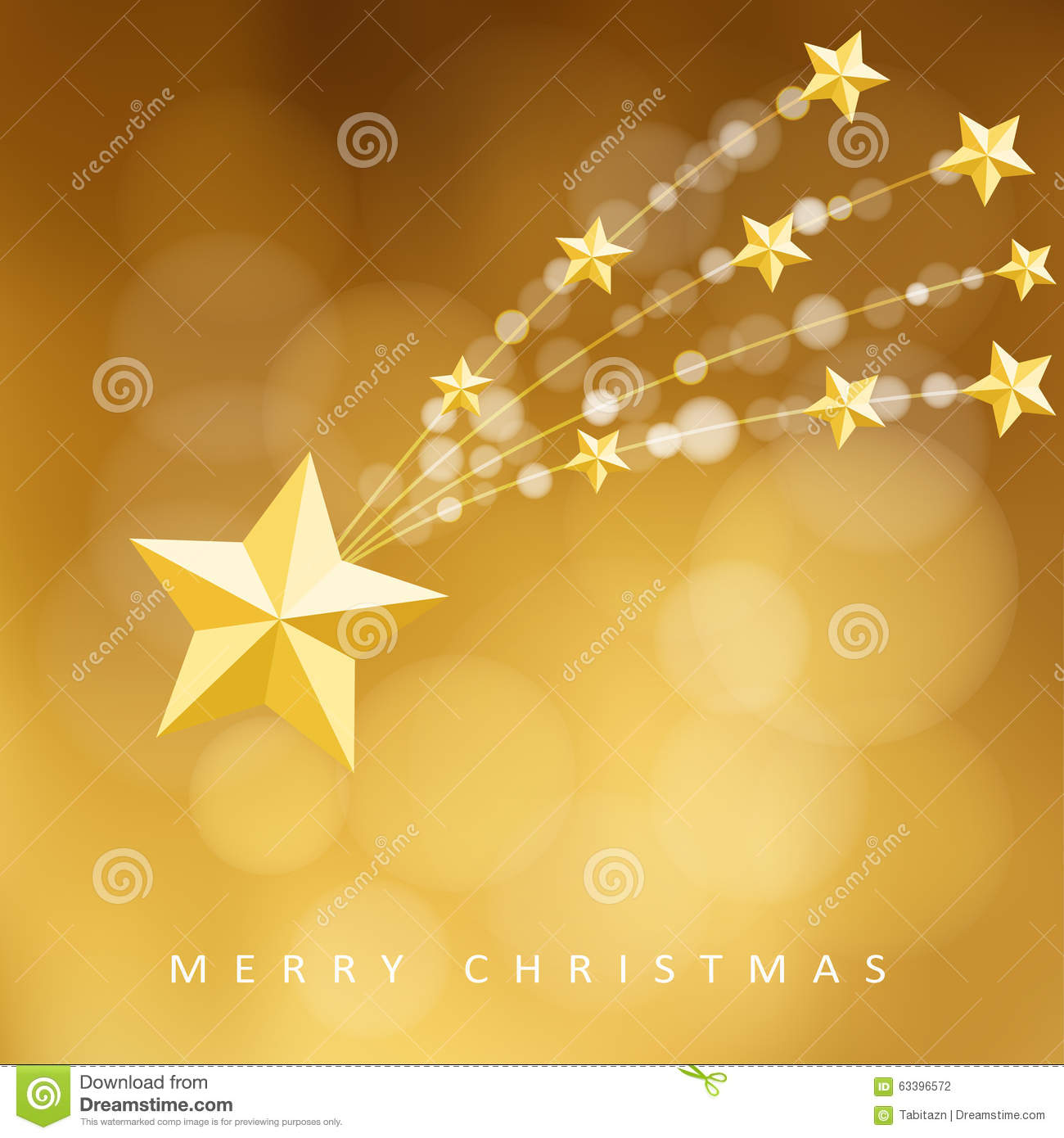 Modern Golden Christmas Greeting Card Invitation With