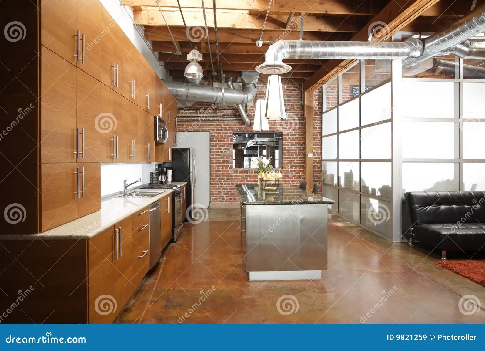 Modern Loft Kitchen Royalty Free Stock Images Image 9821259
