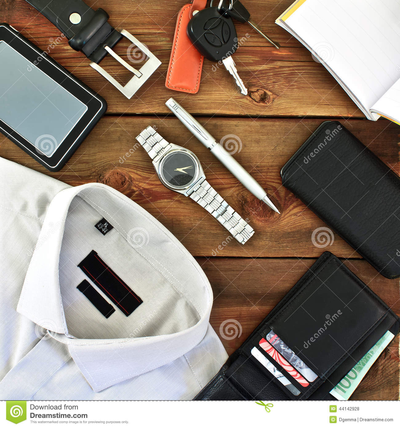 Modern Men S Clothing And Accessories Stock Photo