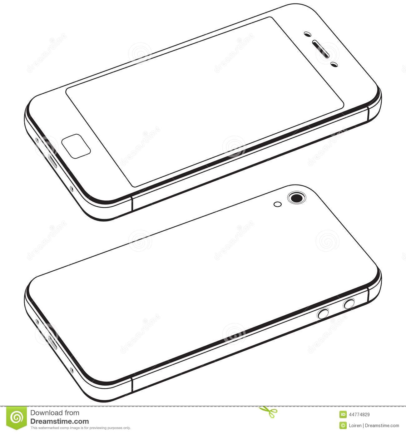 Modern Smart Phone Isolation Vector Stock Vector