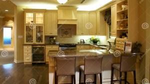 Modern Spacious Kitchen Stock Photo Image Of Classic