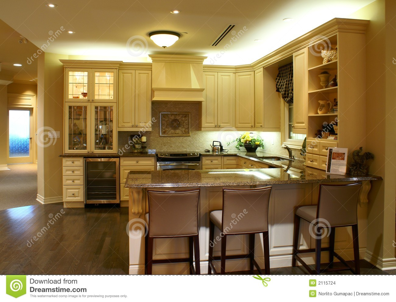Modern Spacious Kitchen Stock Photo Image Of Classic