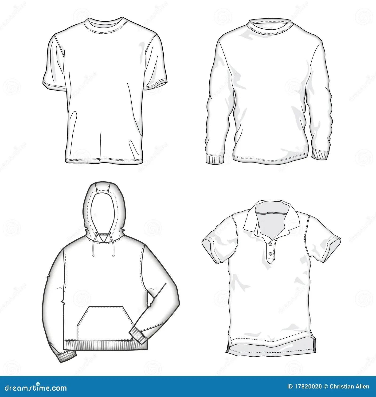 Moldes Da Camisa Foto De Stock