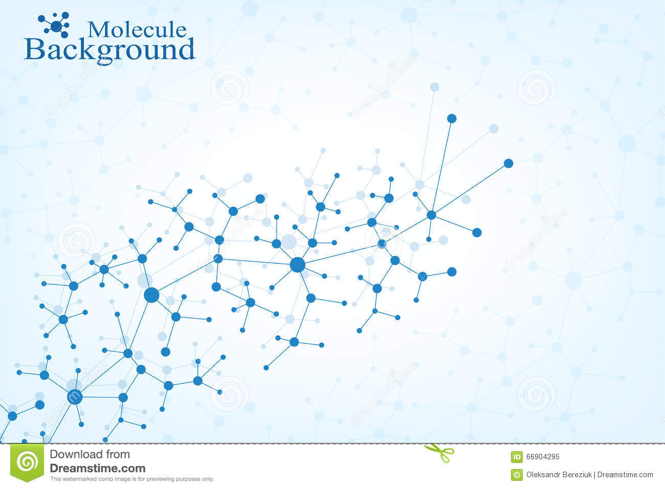 Molecule Structure Dna And Communication Background Connected Lines With Dots Concept Of The