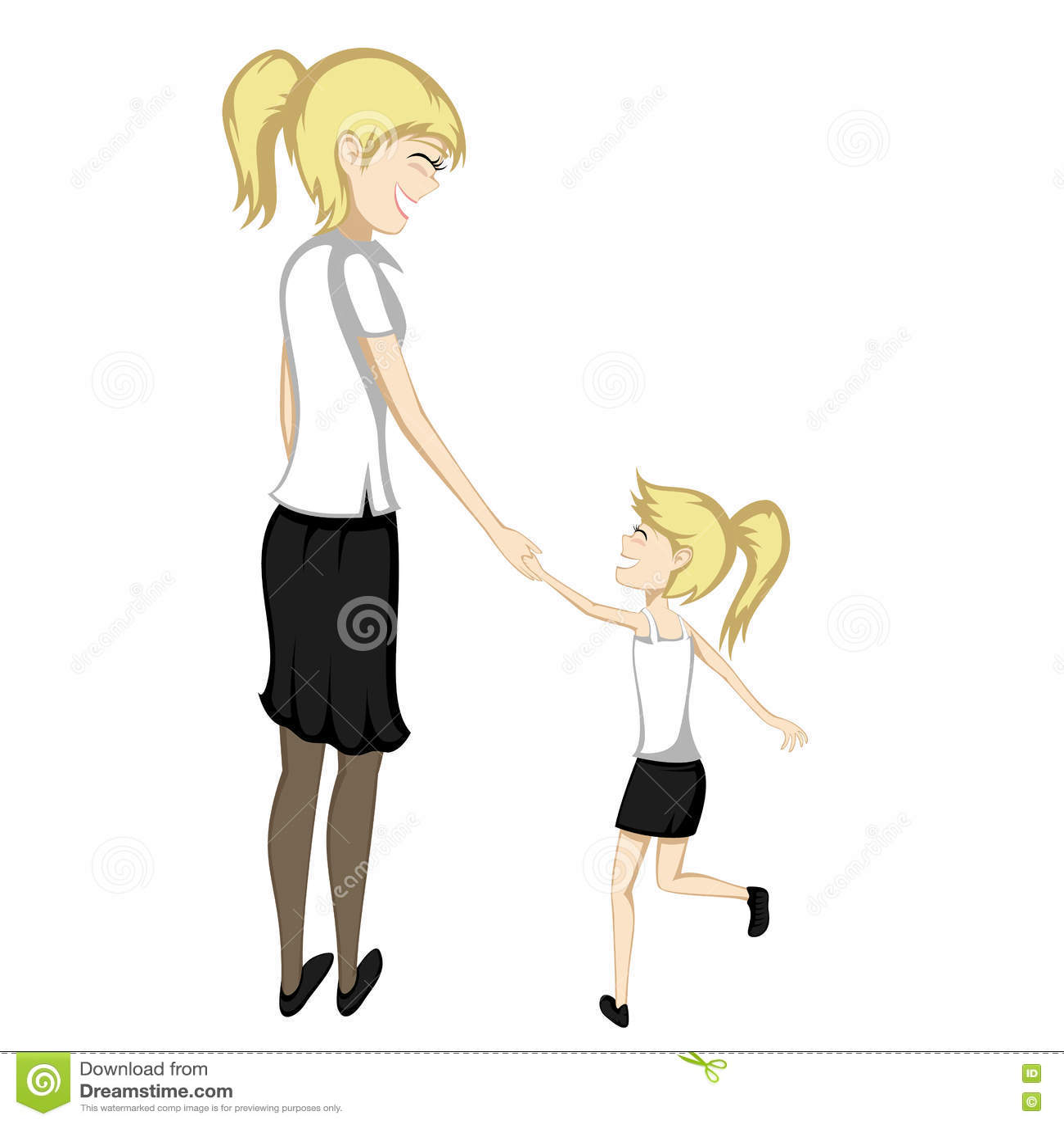 2 People Holding Hands Cartoon