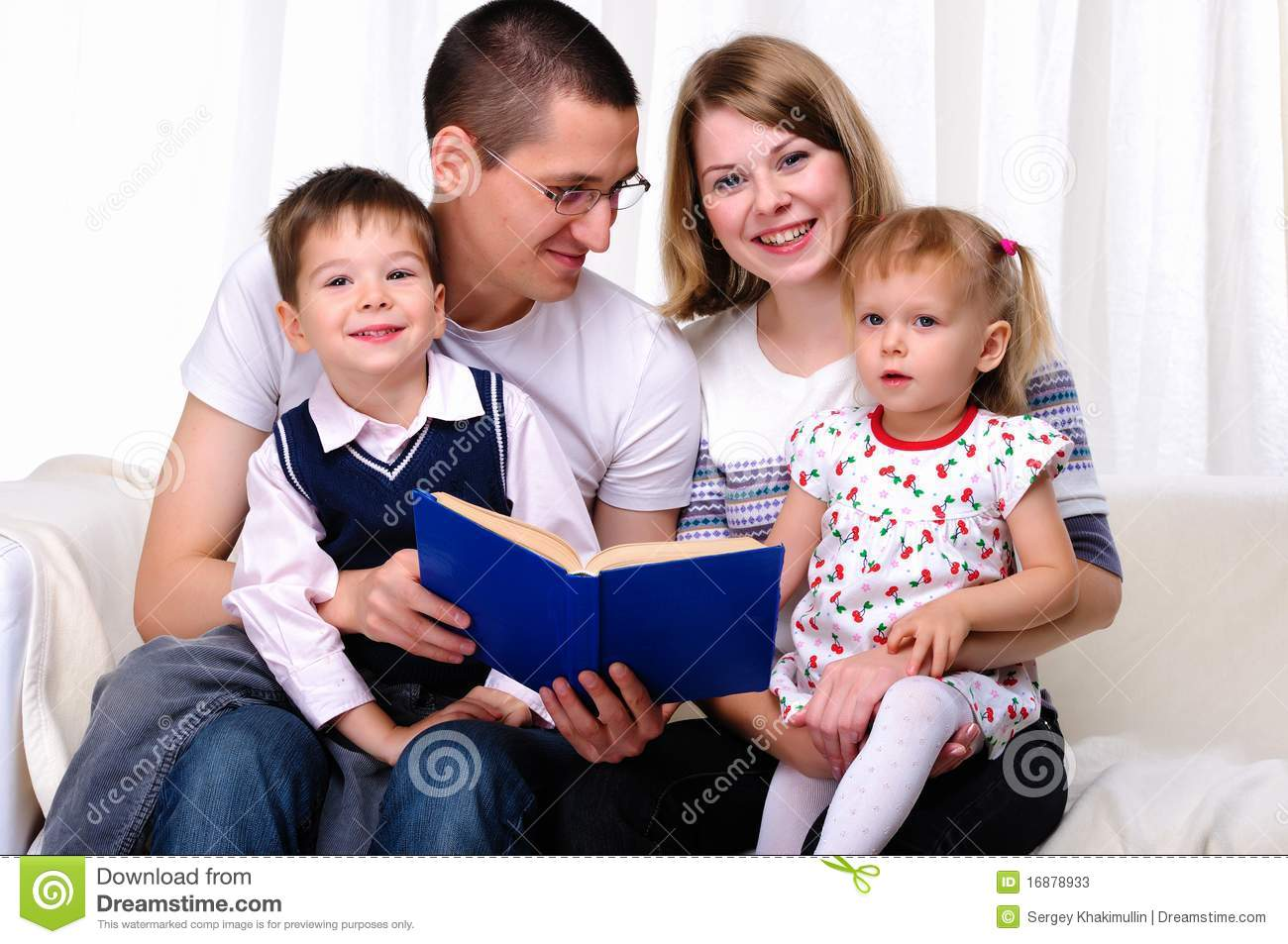 Mom Daughter Son And Dad Stock Image Image Of Family