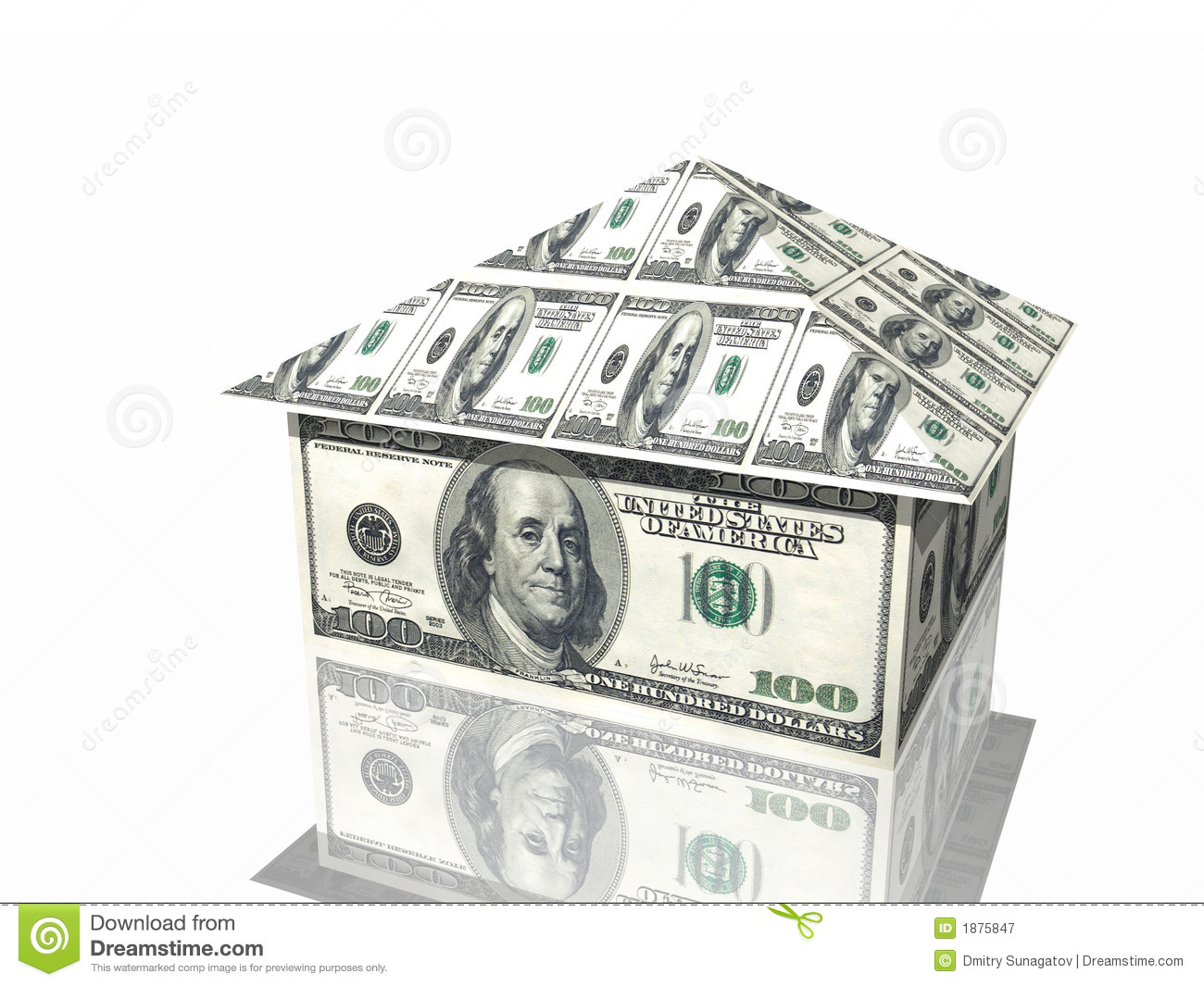 Money House Royalty Free Stock Photography
