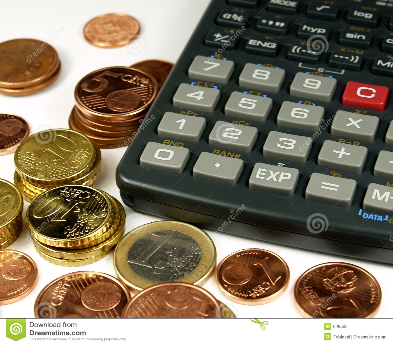 Money Maths Stock Image Image Of Bills Euro Finance