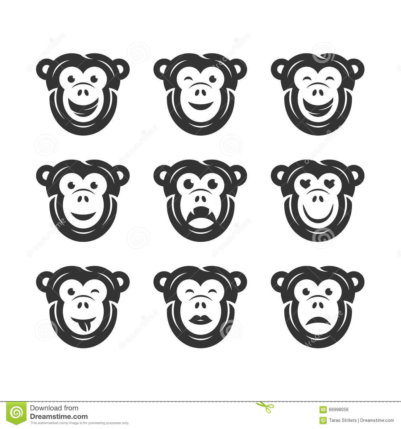 Funny Baboon Cartoon Vector Illustration