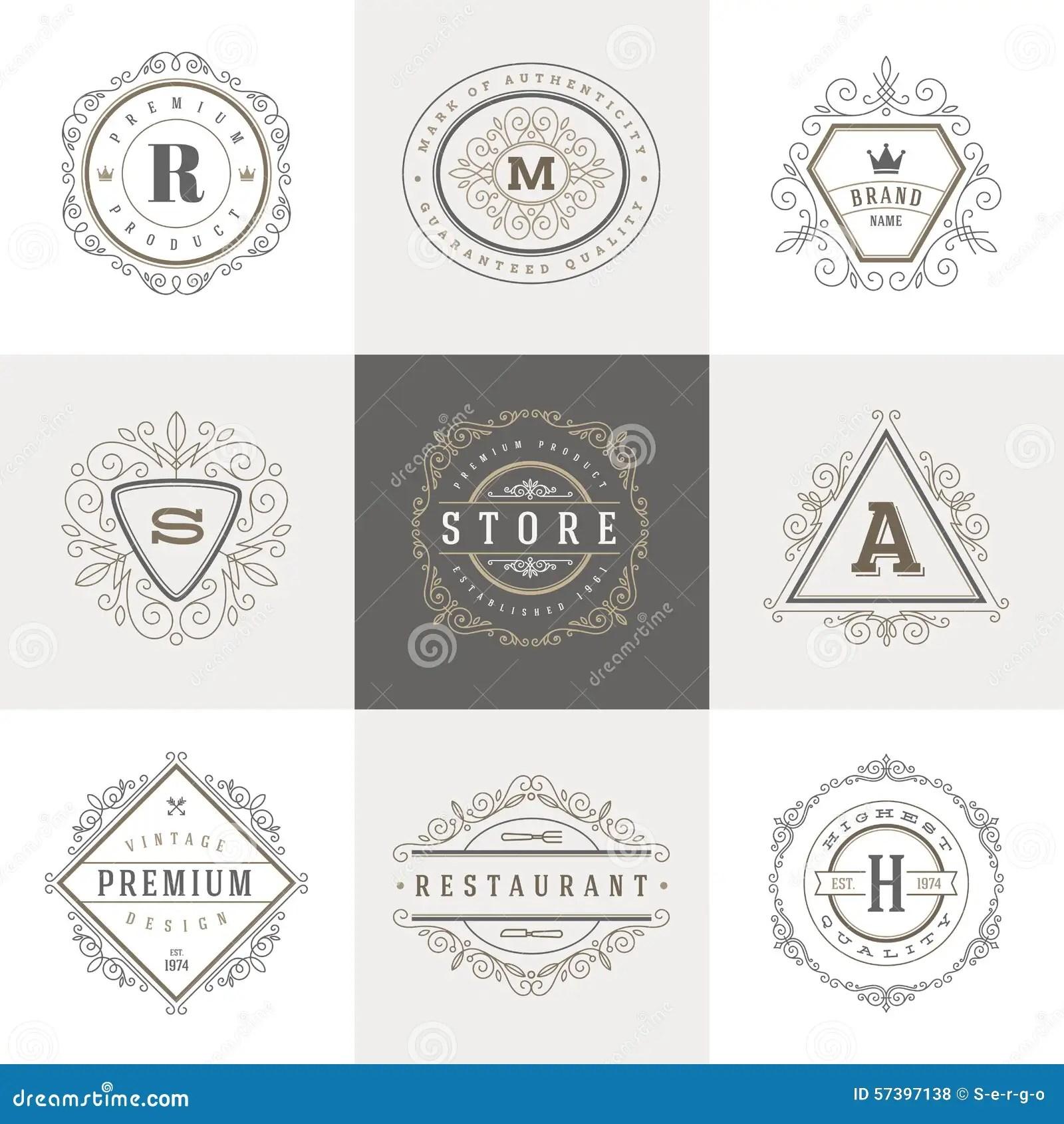Monogram Logo Template Stock Vector Image 57397138