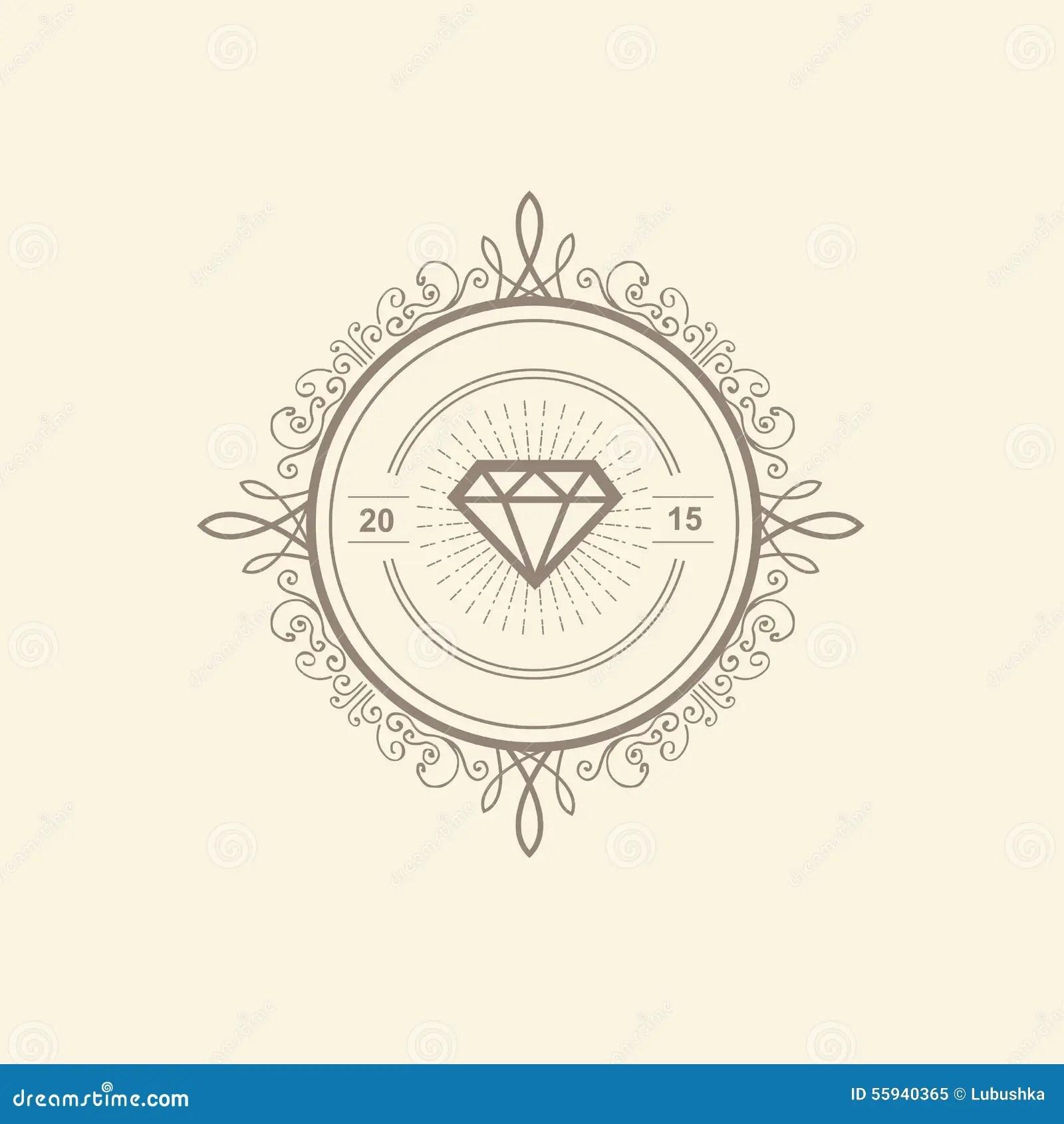 Monogram Luxury Logo Template Stock Vector Image 55940365